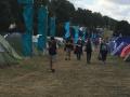 Walking down towards the festival entrance