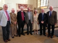 The new inductees with Bishop Colin and Rev'd Bob Edy who proposed them .