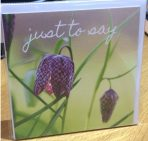 """Just to say"" card"